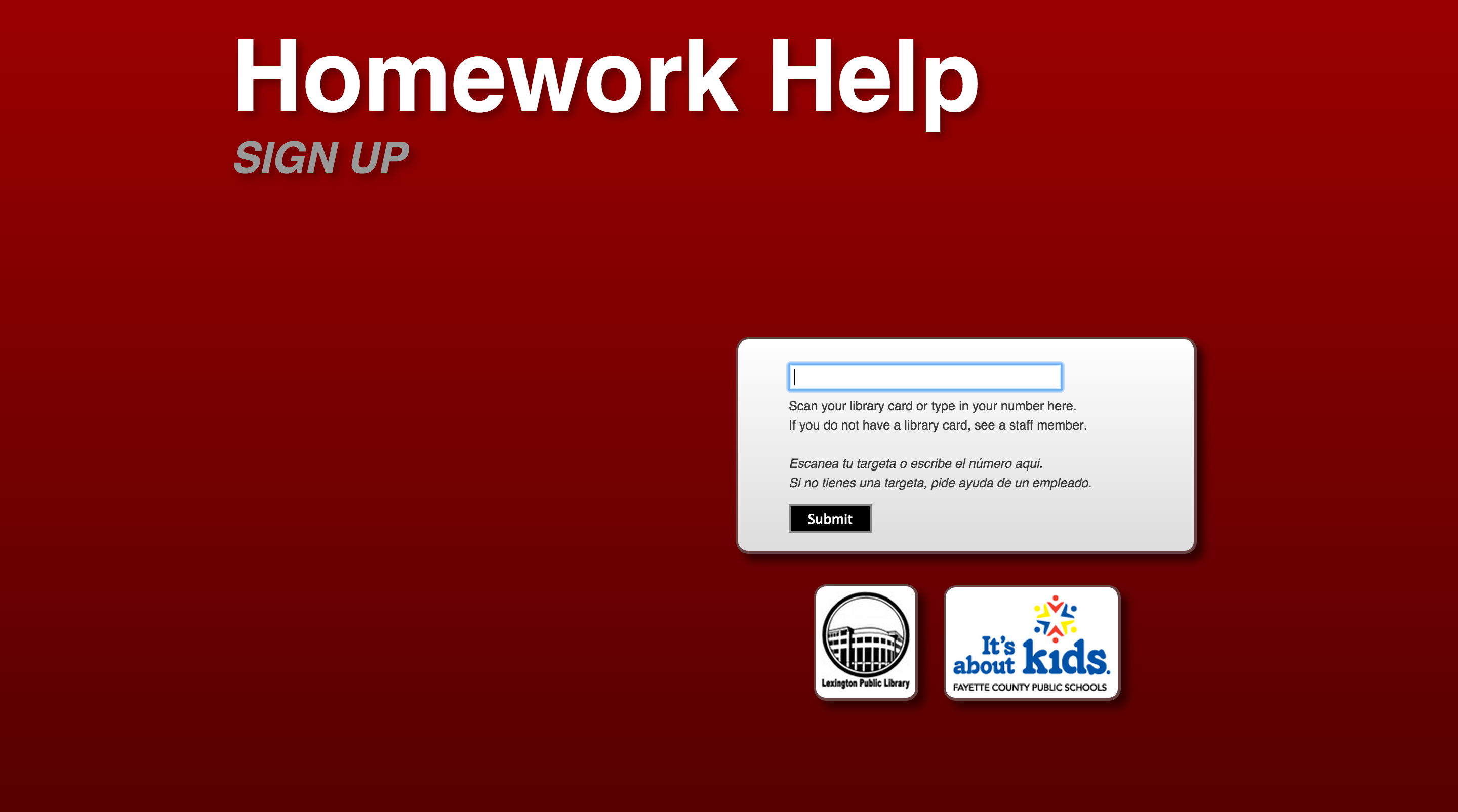 Lexington public library online homework help